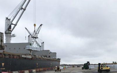 LOGISTEC USA et Waterson Terminal Services anticipent une croissance du bois d'œuvre manutentionné à ProvPort