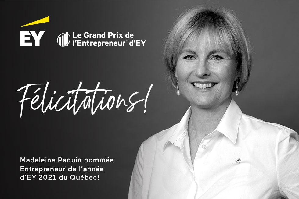 Sept entrepreneurs du Québec que rien n'arrête obtiennent la plus haute distinction remise par EY